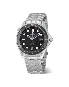 Men's Seamaster Professional Stainless Steel Black Dial