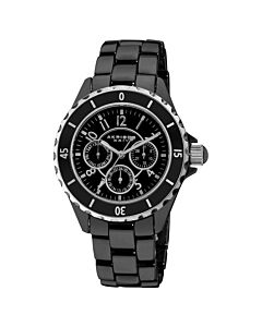 Women's Black Dial Black Ceramic