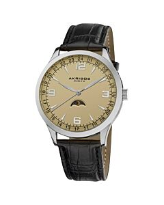Men's Leather Champagne Dial