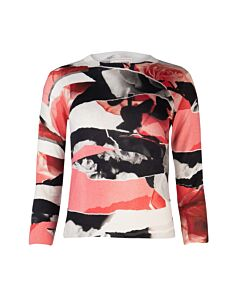 Alexander McQueen Torn Rose Long Sleeve Sweater, Brand Size Large