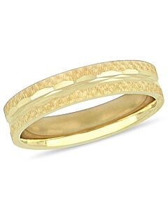 Amour 10K Yellow Gold 5 mm Textured Men's Wedding Band JMS005369-1000