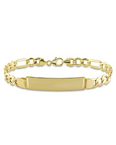 Amour 10K Yellow Gold Men's ID Bracelet