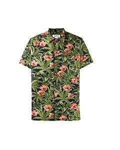 A.P.C. Men's Floral Print Shirt, Brand Size Medium