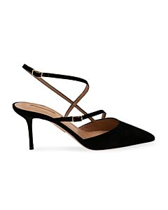 Aquazzura Carolyne 75 Pumps In Black, Brand Size 35