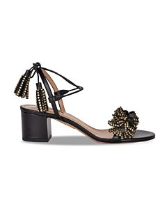 Aquazzura Ladies 50 Wild Crystal Sandals, Brand Size 36.5