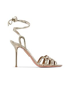 Aquazzura Ladies Azur Metallic 95 Sandals, Brand Size 35