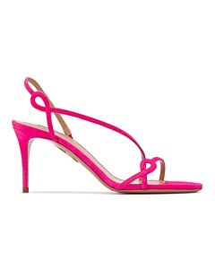 Aquazzura Serpentine 75 Sandals In Pink, Brand Size 40