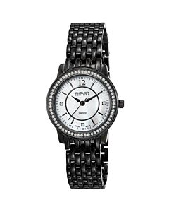 Womens-Base-Metal-White-Mother-of-Pearl-Dial