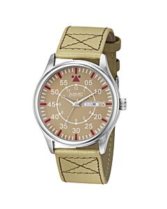 Mens-Leather-Beige-Dial