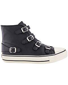 Ash Black Virgin Hitop Sneaker Nap Wax Size 40
