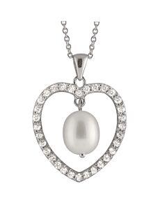 Bella Pearl Heart Shaped Pendant NSR-101