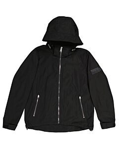 Burberry Men's Black Packaway Hood Showerproof Jacket, Brand Size 54 (us Size 44)