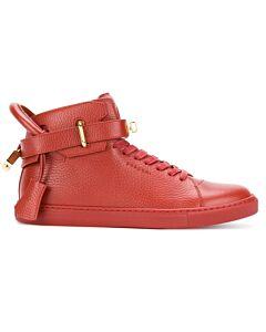 Buscemi Men's Deep Red High-Top Sneakers, Brand Size 41 (US Size 8)