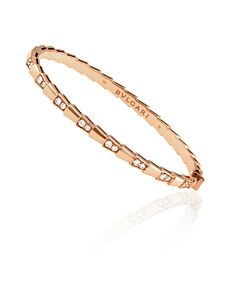 Bvlgari Serpenti Viper 18KT Rose Gold Bracelet- Size Small