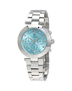 Papillon Multi-Function Stainless Turquoise Dial SS