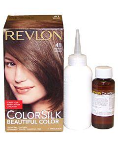 Colorsilk Beautiful Color - 41 Medium Brown by Revlon for Unisex - 1 Application Hair Color