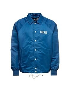 Diesel Men's J-Akio-A Log Jacket in Blue, Brand Size Small