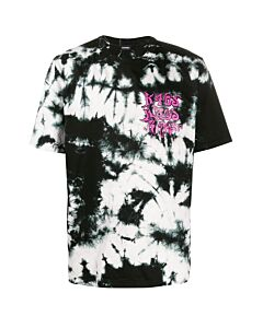 Diesel T-Just-J3 Tie-dye T-shirt With Kaos Print, Brand Size Medium