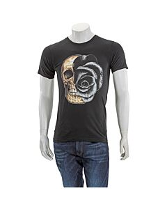 Domrebel Men's T-Shirt Black T-Shirt Skull Black Size Small