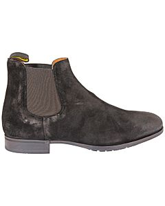 Doucals-Mens-Booties-Black-Chelsea-Sue-Elas-Full-Rub,-Brand-Size-41-5--US-Size-8-5-