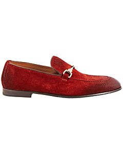 Doucals Men's Horsebit Loafers In Red, Brand Size 40 (US Size 7)