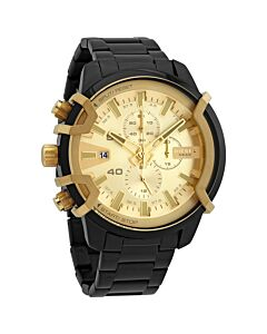 Men's Griffed Chronograph Stainless Steel Gold Dial Watch