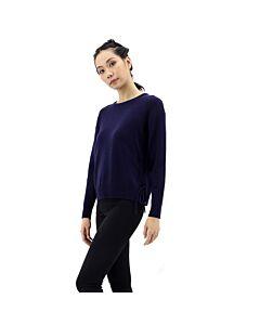 Essentiel Ladies Royal Blue Side Laces Sweater