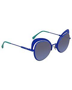 Fendi Eyeshine 54 mm Blue Sunglasses