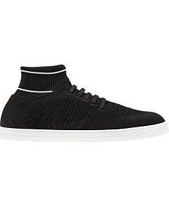 Fendi Men's Italian Luxury Sport Shoes Black Socks Sneakers Size 7.5