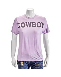 Filles A Papa Ladies Purple Fap Cowboy T-Shirt Size 2