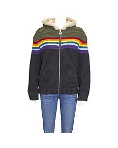 GCDS Ladies Black Rainbow Sweater Size Medium