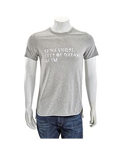 GEYM Men's T-Shirt Gray Universal Size Large