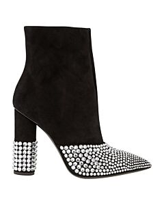 Giuseppe Zanotti Ladies Black Bootie High Pearl Boots Size 36