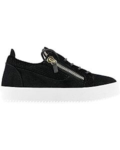 Giuseppe Zanotti Ladies Black Zip Detail Sneakers, Brand Size 35