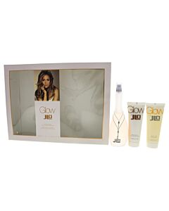Glow by Jennifer Lopez for Women - 3 Pc Gift Set 3.3oz EDT Spray, 2.5oz Body Lotion, 2.5oz Shower Gel