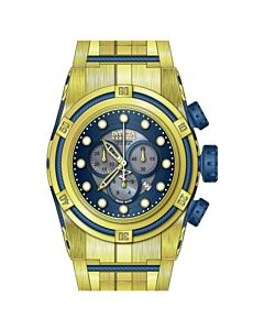 Men's Bolt Chronograph 18kt Gold Ion-plated Stainless Steel Blue with Mother of Pearl center Dial
