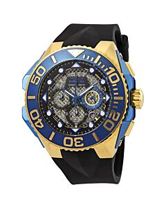 Men's Coalition Forces Chronograph Silicone Black Dial