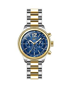 Men's Aviator Chronograph Stainless Steel Blue Dial