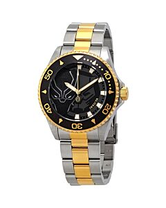 Men's Marvel Stainless Steel Black Dial