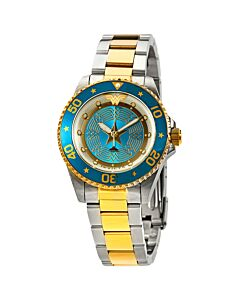 Women's DC Comics Stainless Steel Blue Dial