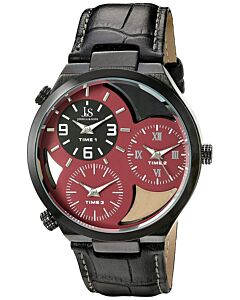 Men's Leather Red See Through Dial