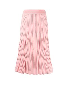Kenzo Flamingo Pink Pleated-Knit Midi Skirt, Brand Size Small