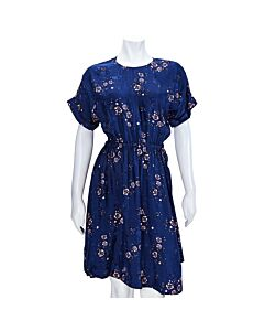 Kenzo Ladies Navy Fit & Flare Tee Dress Size 34