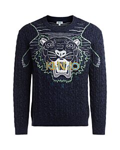 Kenzo Men's 'Claw Tiger' Wool Jumper, Brand Size X-Large