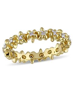 Laura Ashley 1/10 CT TW Diamond Eternity Ring -