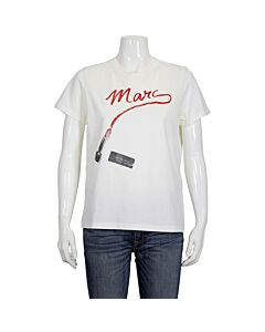 Marc Jacobs Ladies The St. Mark's T-Shirt in Ivory, Brand Size Small