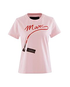 Marc Jacobs Ladies The St. Mark's T-Shirt in Light Pink, Brand Size Small