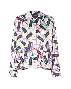 Marc Jacobs The Pajama Ribbon Print Top, Brand Size Large