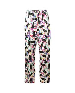 Marc Jacobs White / Multi Pajama Pants, Brand Size Large