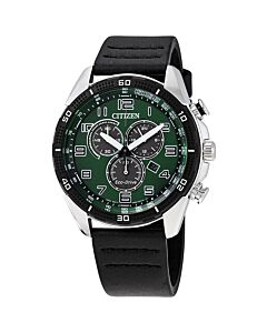 Mens-AR-Chronograph-Leather-Green-Dial